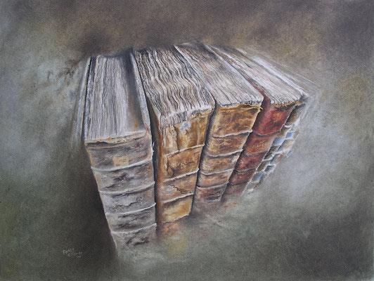Wissen, Öl-Pastellkreide, 47 x 61 cm, 2014