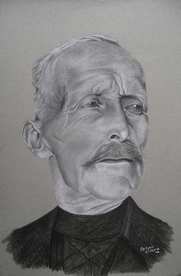 Enno der Friese, Zeichenkreide, 31 x 46 cm, 2012  Preis auf Anfrage