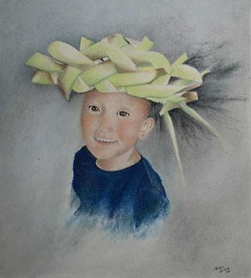 Mats, Öl-Pastellkreide, 34 x 42 cm, 2020 verkauft