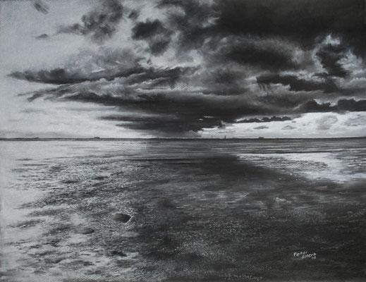Endlos, Zeichenkreide, 48 x 64 cm, 2013  Preis auf Anfrage