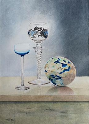 Glasklar, Öl-Pastellkreide, 44 x 61 cm, 2011