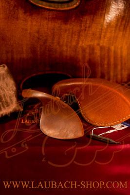 Подбородник для скрипки с чехлом и протектором из натуральной кожи  купить