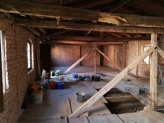 Umbau zur FeWo Obergeschoss in Doberschütz bei Bautzen