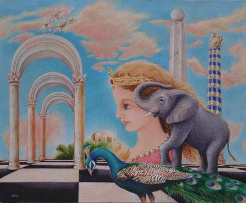 2-庭園と女と象0829