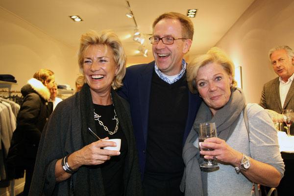 Felicitas Fahning mit Rainer und Sigi Sump