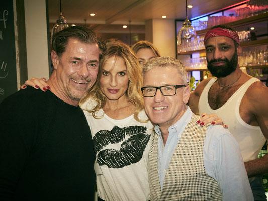 TV-Star Sven Martinek mit Freundin Bianca Rütter, Gastgeber Mirko Stemmler und Schauspieler Tamer Trasoglu