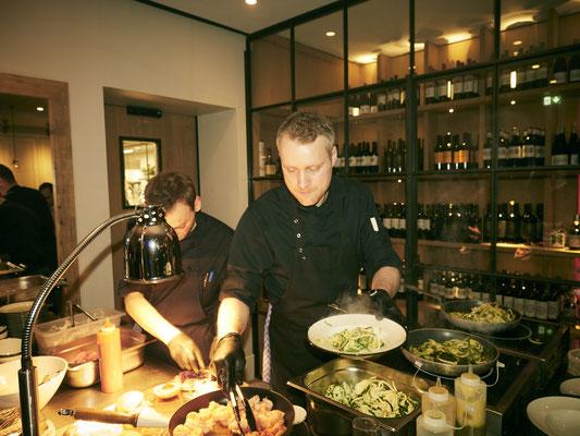 Live-Cooking für die Gäste