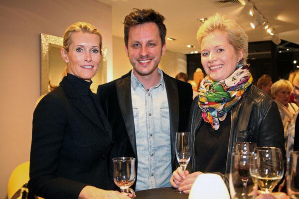 Dagmar Viereck mit Tim Koller und Frauke Constantin