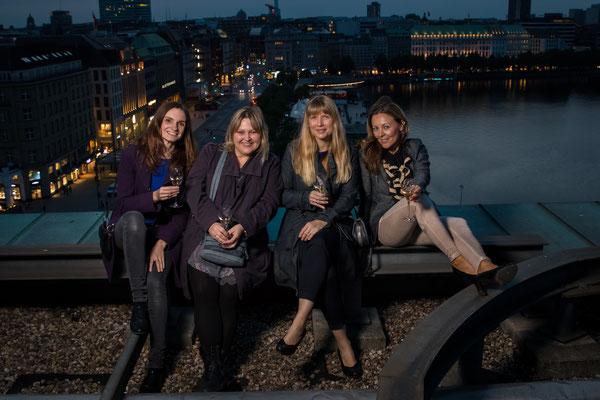 Hübsches Quartett: Iris, Kathleen, Nicole und Katarzyna