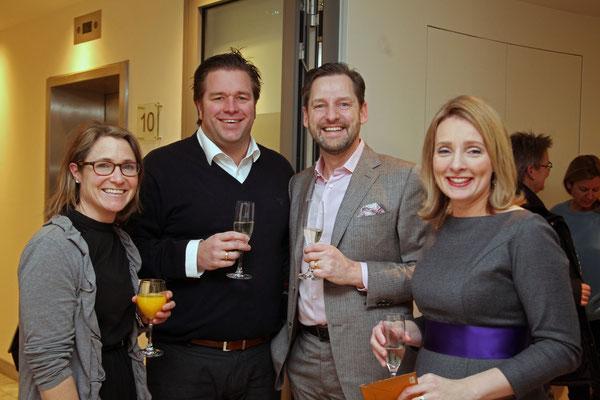 Swantje und Eric Schneider mit Rupert und Dr. Anja Dawson