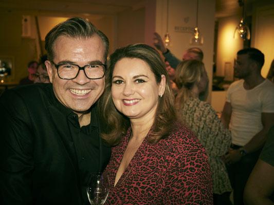 Reinhard Maetzler mit Kerstin Slawatycki von agency Call Hamburg