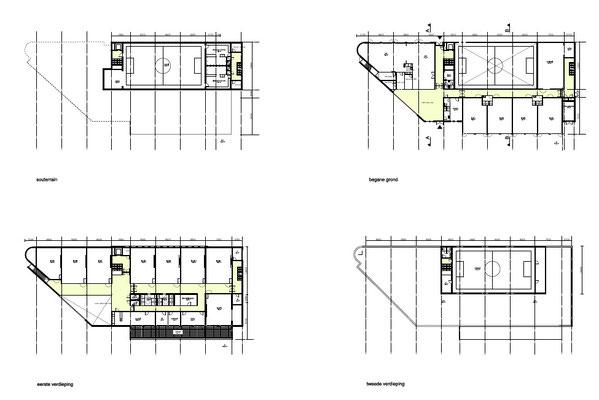 Hertogschool Den Haag plattegronden ontwerp ism B de Jel