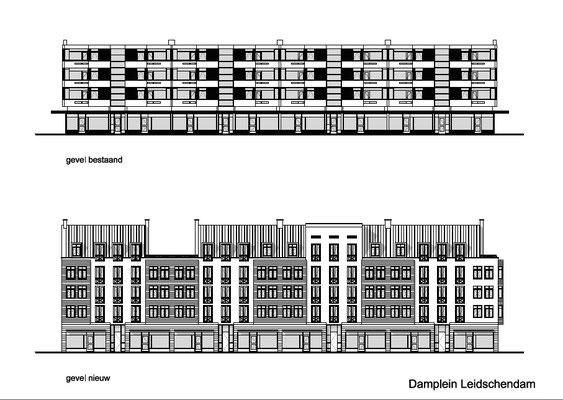 renovatie en optoppen appartementengebouw Damplein Leidschendam