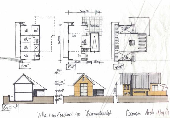 Barendrecht, 3 villa's met beperkte nokhoogte