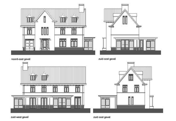 Villa Noordwijk, status: aanvraag omgevingsvergunning 08-'17