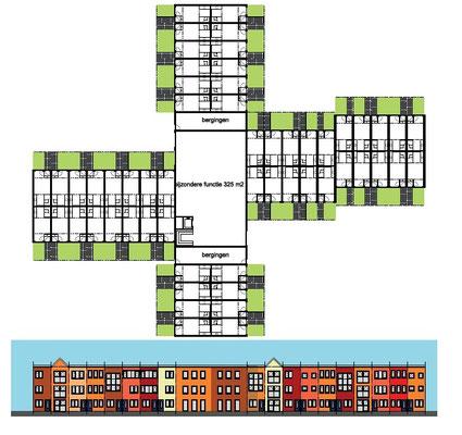 transformatie raadhuis Heemskerk naar starterswoningen