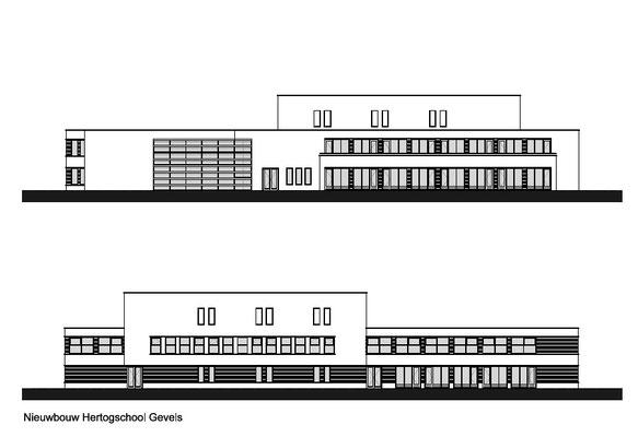Hertogschool Den Haag gevels ontwerp ism B de Jel