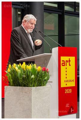 Ewald Karl Schrade, Kurator der art Karlsruhe
