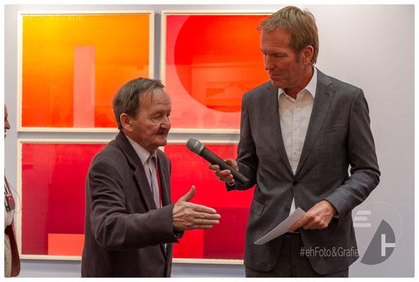 Hans-Peter Haas, Serigrafie - Markus Brock, SWR Moderator