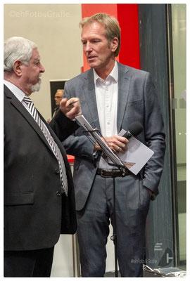 Markus Brock, Moderator und Ewald Karl Schrade