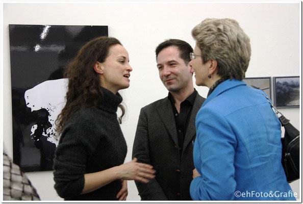 Frau Barbara Bosch Oberbürgermeisterin, Christian Malycha Künstlerischer Leiter, Kunstverein Reutlingen