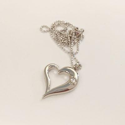 gioielli biancopunto pendente snow cuore pendant