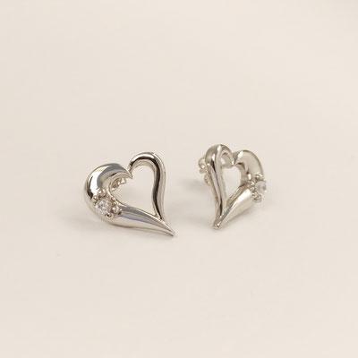 gioielli biancopunto orecchini snow cuore earring