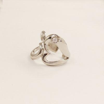 gioielli biancopunto anello snow cuore ring