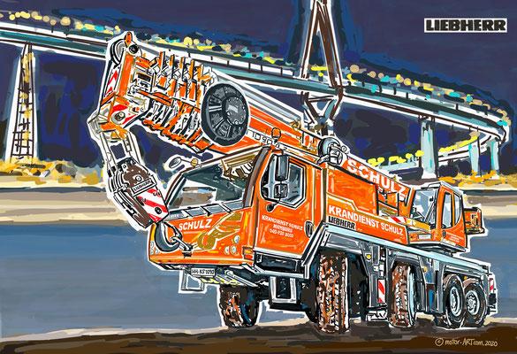 LIEBHERR Auftrag - Schulz Hamburg -  digital gezeichnet, auf Leinwand gedruckt - 80x120cm