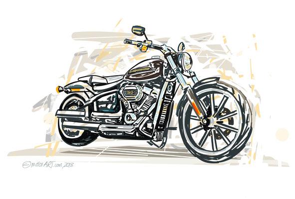 Privater Auftrag - Harley Davidson- digital gezeichnet