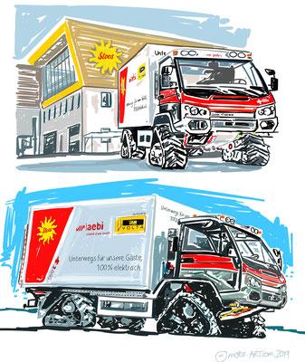 MESSE Kunst Aebi -  digital gezeichnet, auf Leinwand gedruckt - 80x60cm