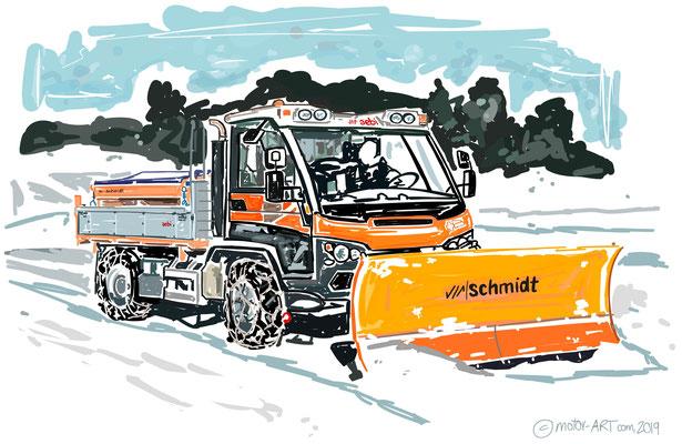 MESSE Kunst Schmidt Kommunalfahrzeuge-  digital gezeichnet, auf Leinwand gedruckt - 80x60cm