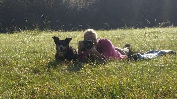 Emma und ich.....Hundeshooting mit Emma, Daniela und Louiza in Rheinberg Vierbaum - September 2016 - Handyfoto: Daniela