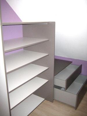 L'Atelier Marquis - aménagement  intérieur - placard coulissant à pan coupé