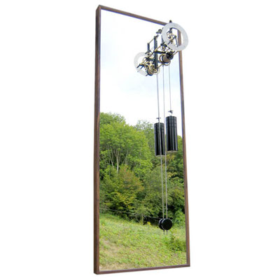Horloge contemporaine - la Madeleine miroir