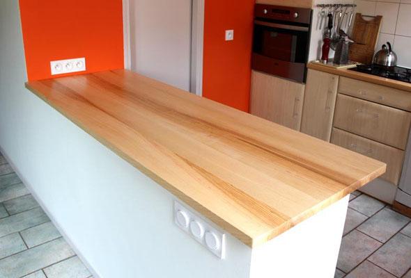 L'Atelier Marquis - Aménagement de cuisine - Plan de travail en bois massif