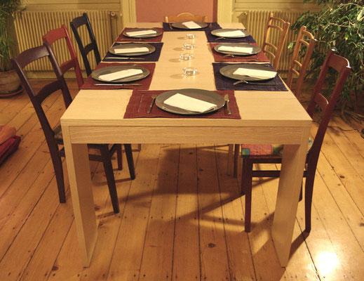 L'Atelier Marquis - ébénisterie d'art - Table console à rallonges