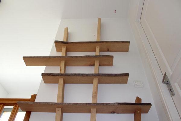 L'Atelier Marquis - Mobilier sur-mesure - Bibliothèque en frêne pour livres de poche