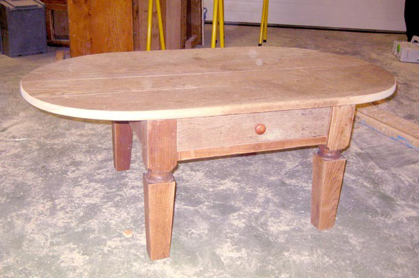 L'Atelier Marquis - Meuble relooké - table basse en frêne massif