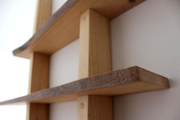Bibliothèque en bois bois massif huilé