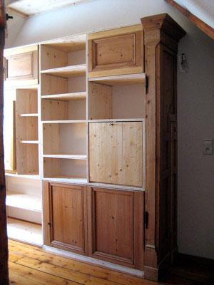 L'Atelier Marquis - aménagement intérieur - bibliothèque contemporaine en sapin épicéas