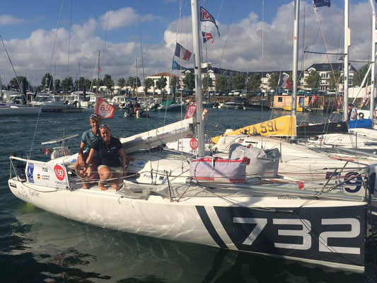 vor dem Start in Les Sables