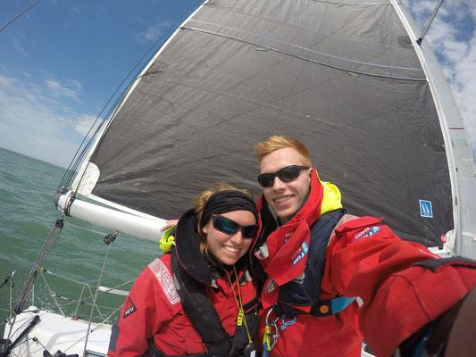 mit meinem Bruder Jan auf Höhe der Île de Ré