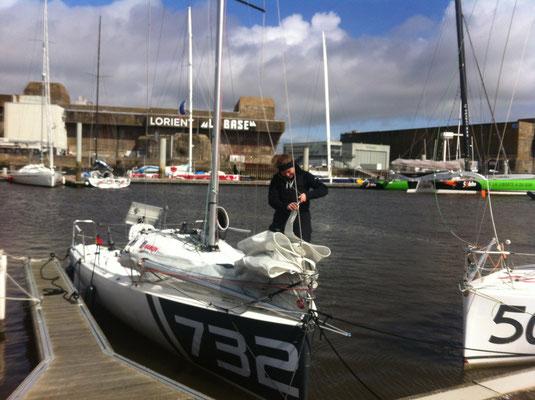 erster Tag auf dem Wasser als Skipperin!