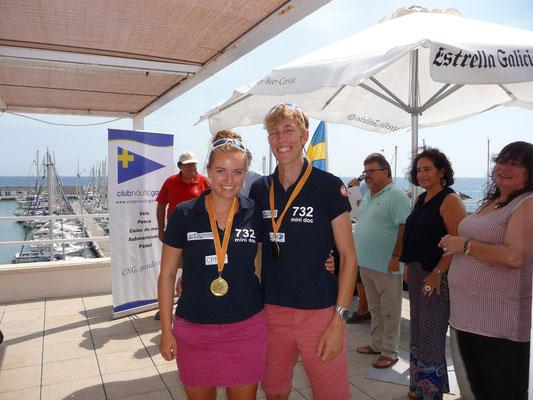 Sverre und ich bei der Siegerehrung, (c) Andrés Mata