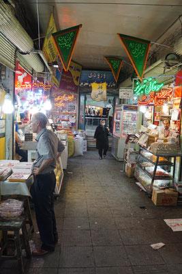 Blick in den Basar von Tabriz...