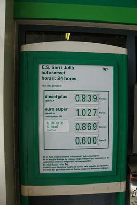 Benzin wird hier fast verschenkt...