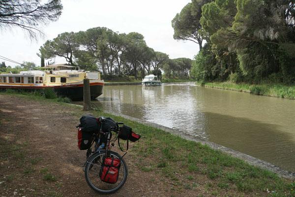 Zusammenfluss von Canal de l'Aude und Canal du Midi