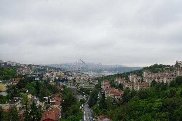 Die Bosphorusbrücke von Europa aus...