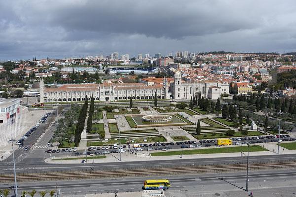 Park und Mosteiro dos Jeronimos aus der Höhe